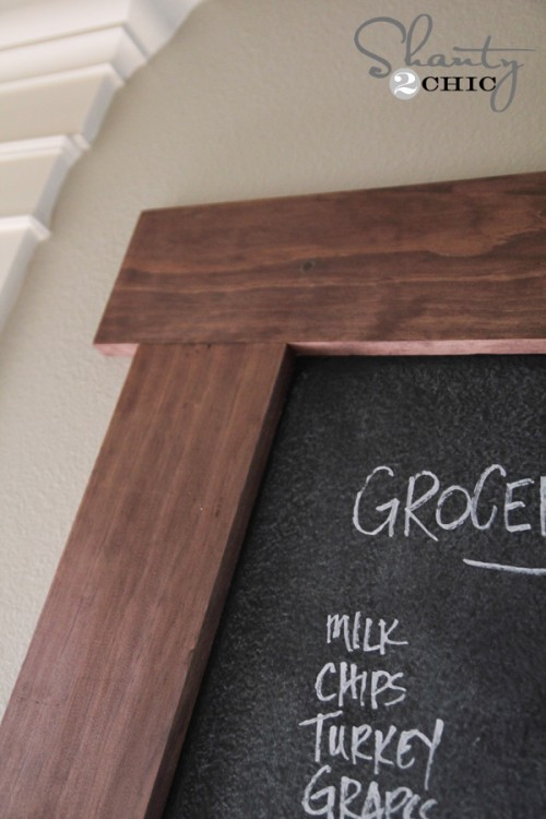 DIY Frame for Chalkboard