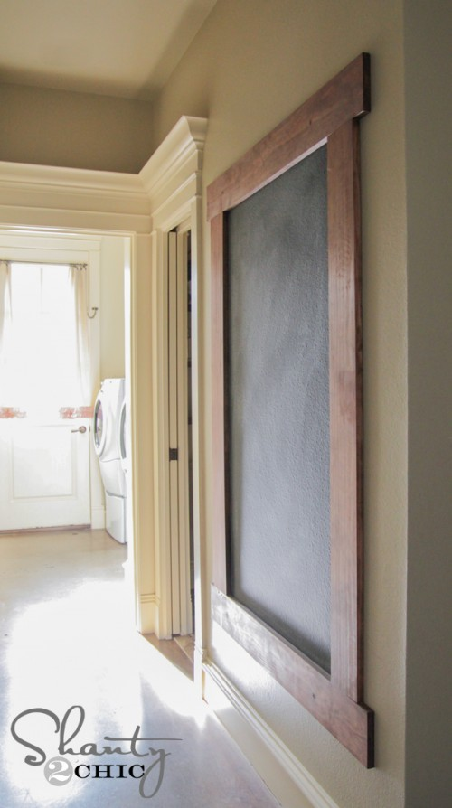 DIY Framed Chalkboard Wall