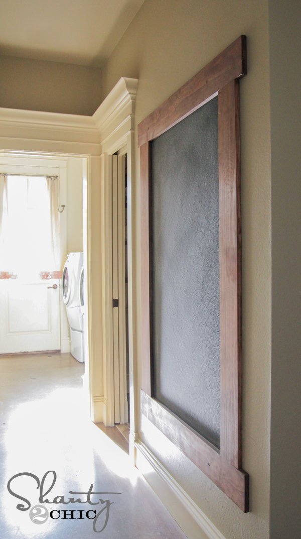 Diy Framed Chalkboard Wall Shanty 2 Chic