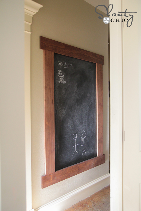 DIY Framed Chalkboard Wall!! - Shanty 2 Chic