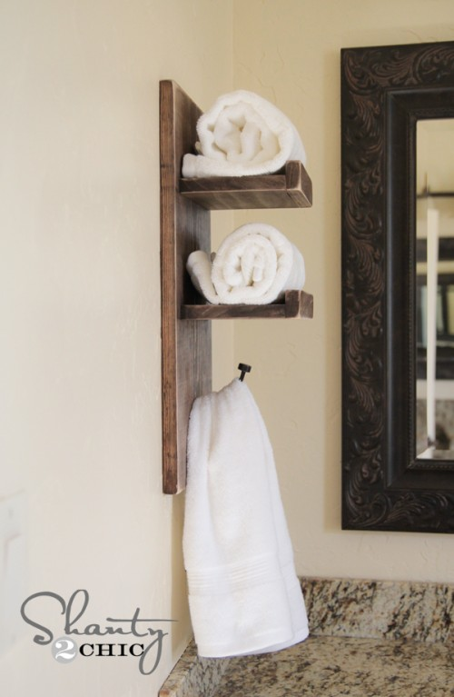 DIY Towel Hook for the Bathroom