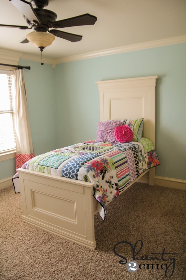 Stunning DIY Twin Bed