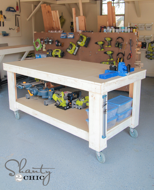 workbench plans on casters