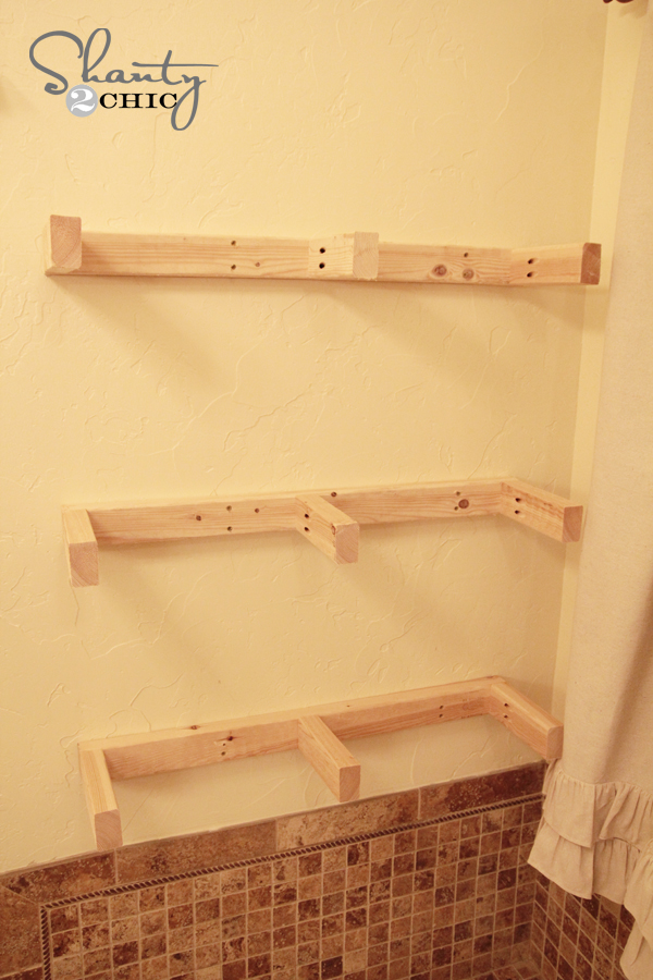 Easy diy floating shelves floating shelf tutorial video for How to make wall shelves easy