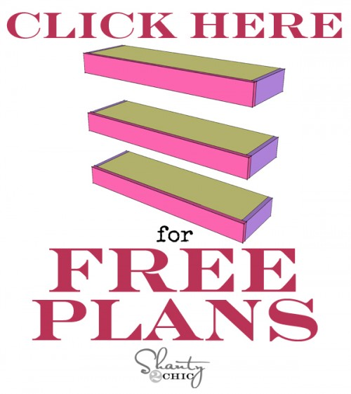 Free Plans Floating Shelves