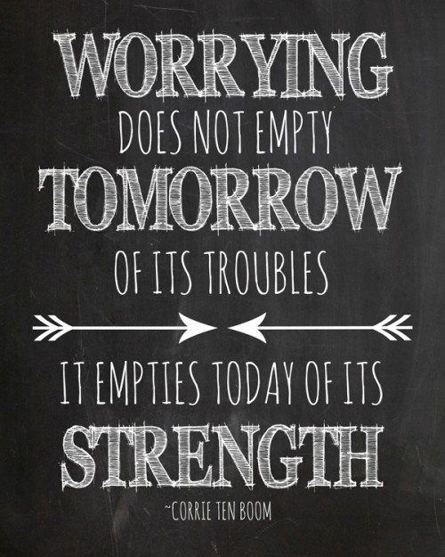 Free Printable Worry Quote