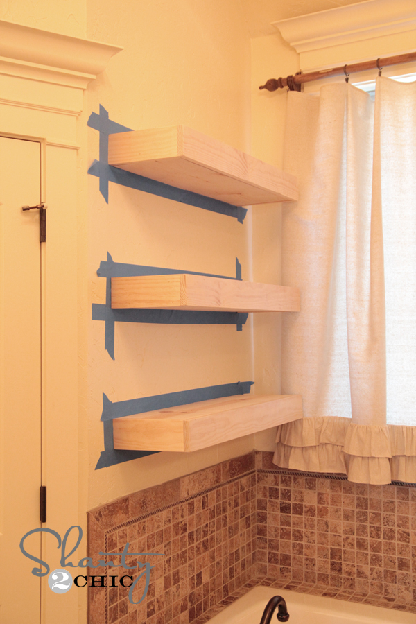 How to Build Floating Wall Shelves 600 x 900