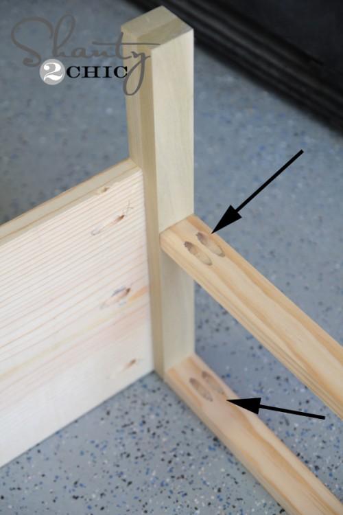 Kreg Pocket Holes bottom of bench