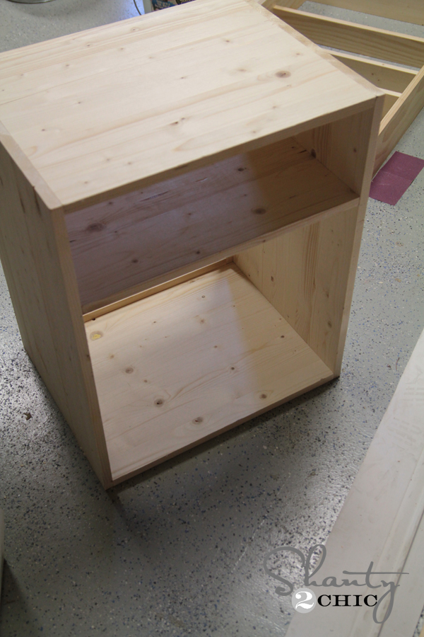 diy nightstand - shanty 2 chic How to Make a Nightstand out of Wood