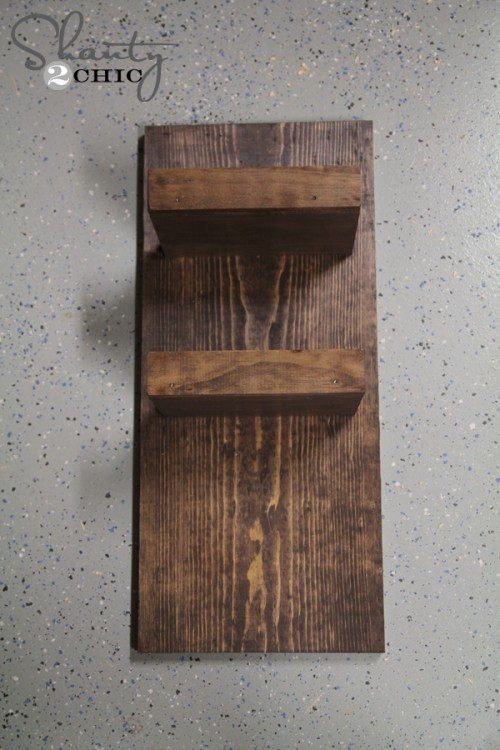 Stained towel hook