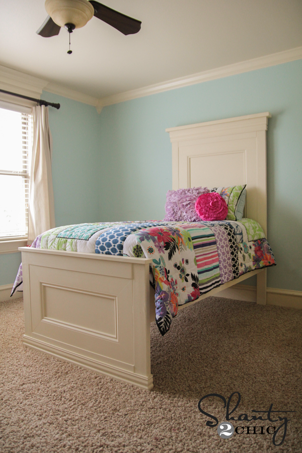 amazing diy twin bed shanty 2 chic. Black Bedroom Furniture Sets. Home Design Ideas