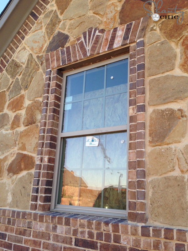 Palladium Stone Around Window : House update brick and stone are done shanty chic