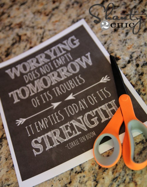free printable quote worry