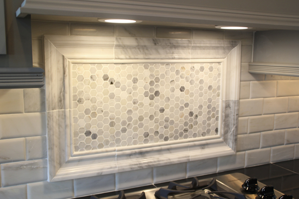 swooned over this honeycomb accent wow and more subway tile love