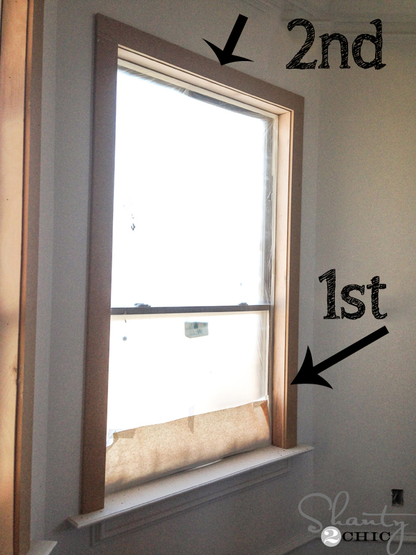 Super Easy Way To Case An Existing Window Shanty 2 Chic