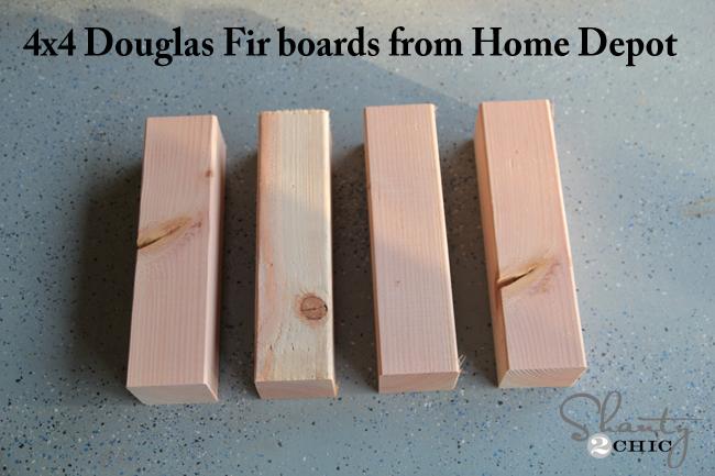 4x4 wood boards