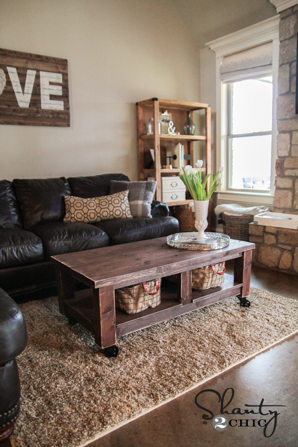 Pottery Barn Knockoff Coffee Table Shanty Chic - Pottery barn leona coffee table