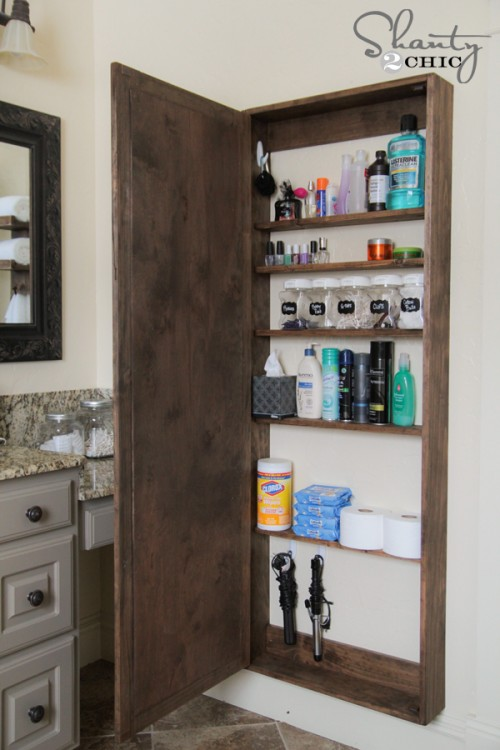 DIY Bathroom Organization Cabinet