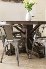 DIY Round Wooden Table for $110!