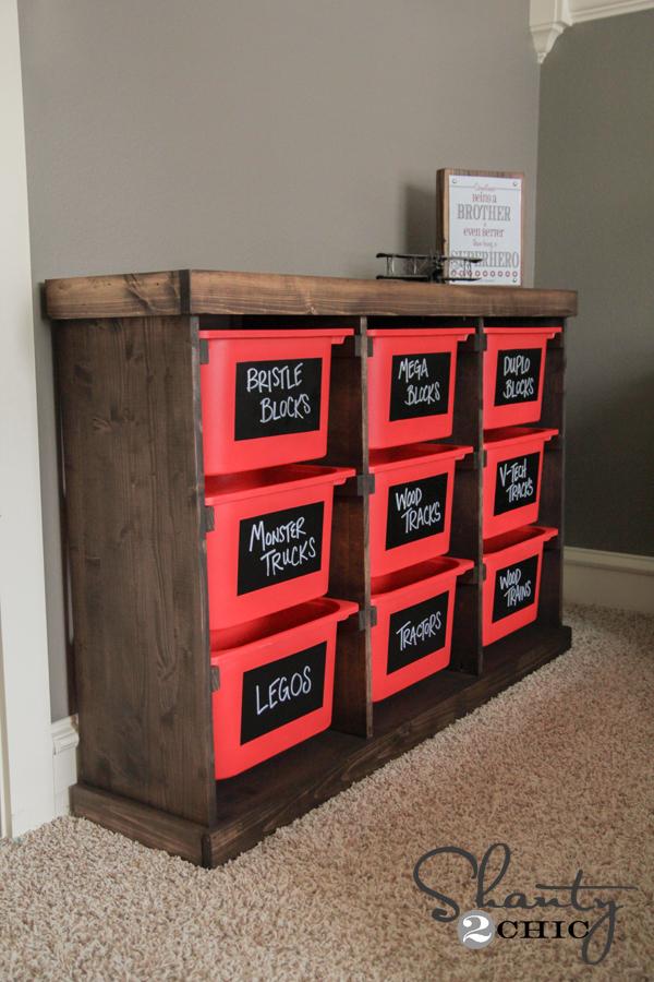 DIY Toy Storage Unit & DIY Storage Idea! - Shanty 2 Chic