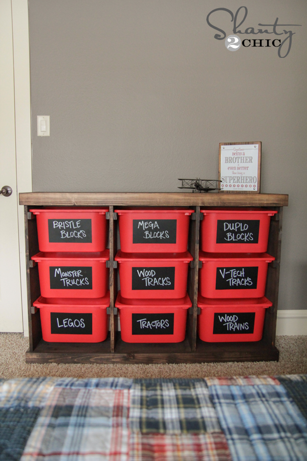 Diy storage idea shanty 2 chic Storage ideas for toys in living rooms