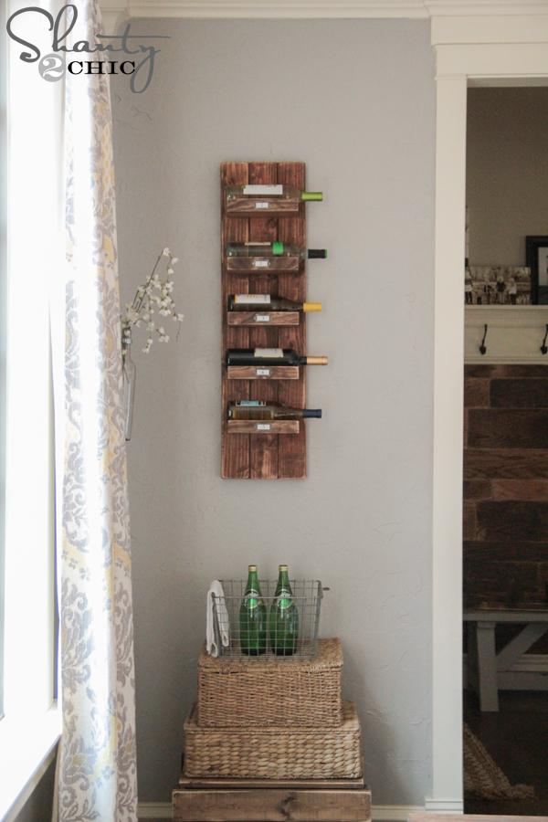 DIY Wine Rack - Shanty 2 Chic