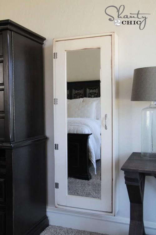 Cool DIY Bathroom Mirror Storage Case  Shanty 2 Chic