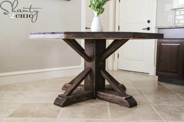 Diy Round Wooden Table For 110 Shanty 2 Chic