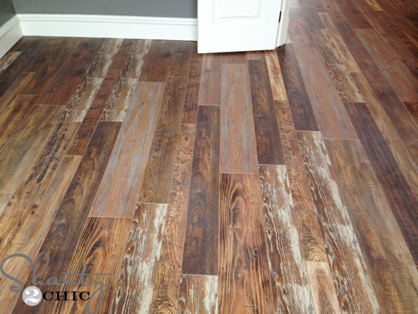 Yes, it's laminate and it's easy to install DIY style 🙂 We ...