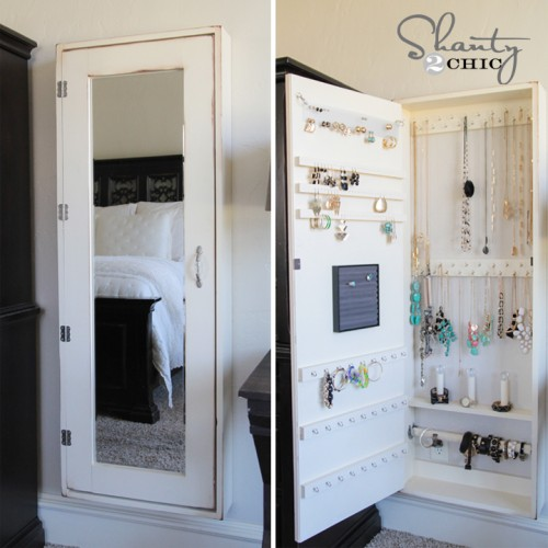 Shanty2Chic DIY Jewelry Cabinet