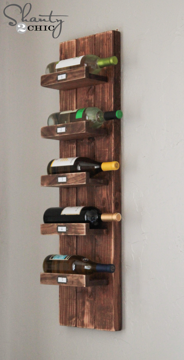 diy wine rack shanty 2 chic. Black Bedroom Furniture Sets. Home Design Ideas