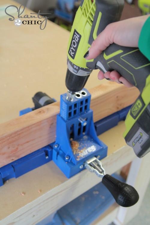 adding pocket holes to wood