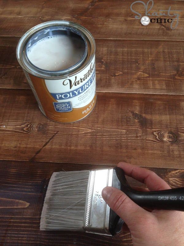 how to put polyurethane on a table