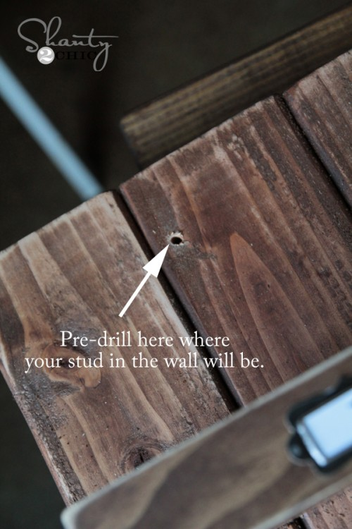 predrill wood