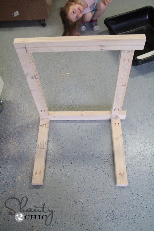 Attach sides of sand table