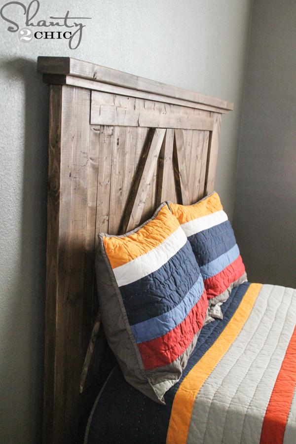 Diy Headboard Plans diy barn door headboard - shanty 2 chic