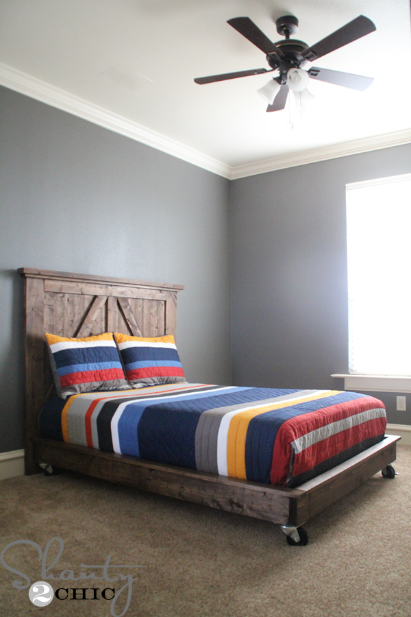 Perfect DIY Platform Bed on Wheels