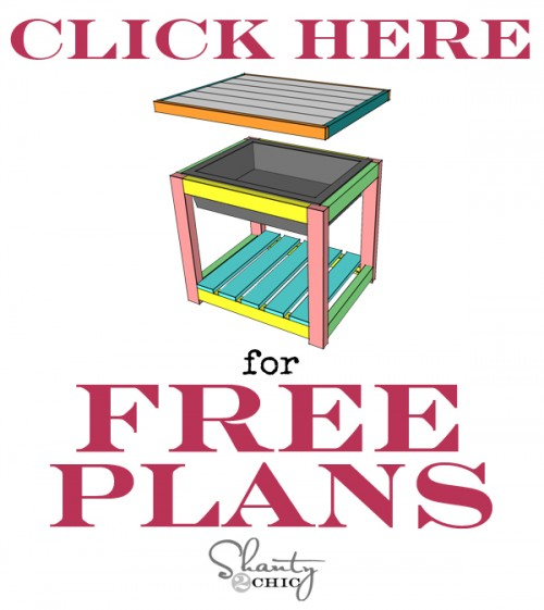 DIY sand table free plans