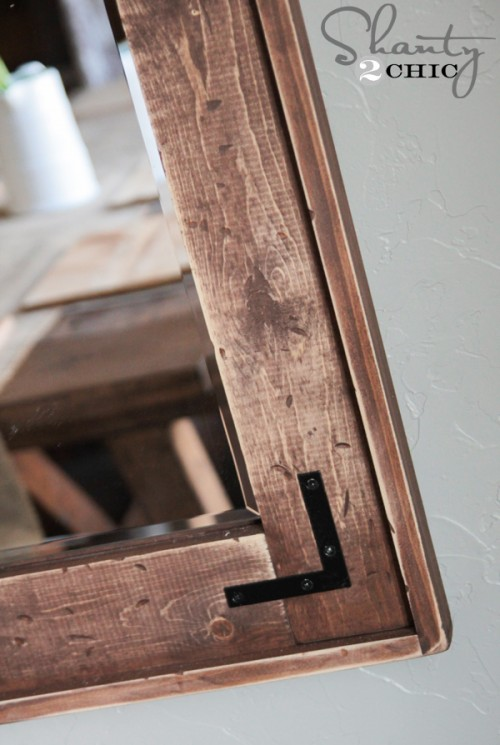 distressed wood finish - Diy Rustic Picture Frame