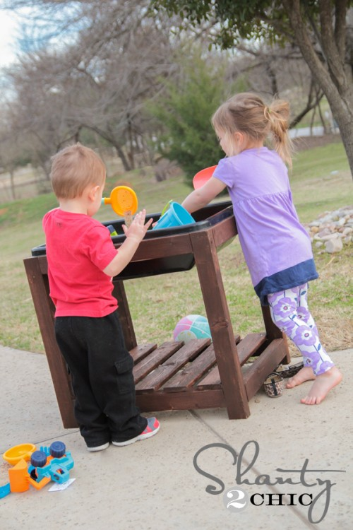 Free Plans DIY Sandbox Table