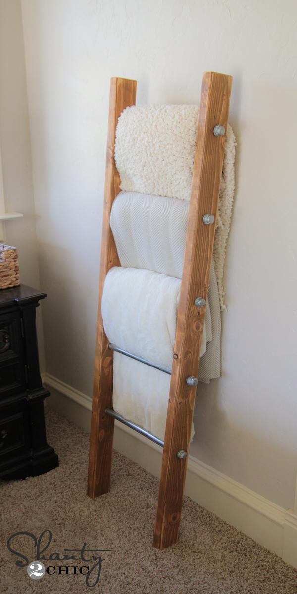 25 Best Reclaimed Wood Blanket Ladder Plans Wallpaper