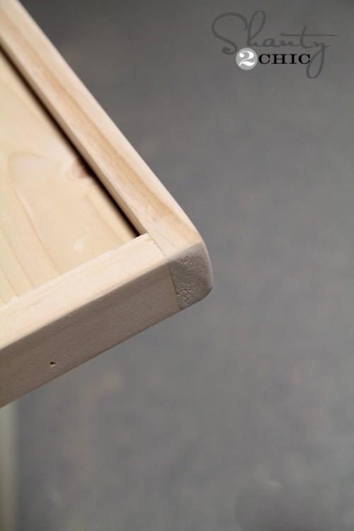 Round edges with sander