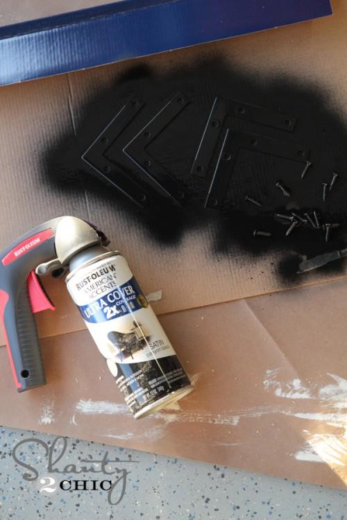 Rustoleum Black spray paint