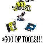 HUGE Ryobi Tools Giveaway!