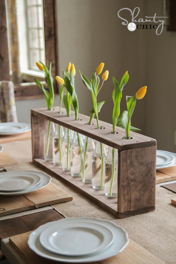 10 Diy Glass Bottle Wood Vase Shanty 2 Chic