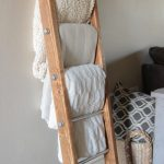 DIY Wood and Metal Pipe Blanket Ladder