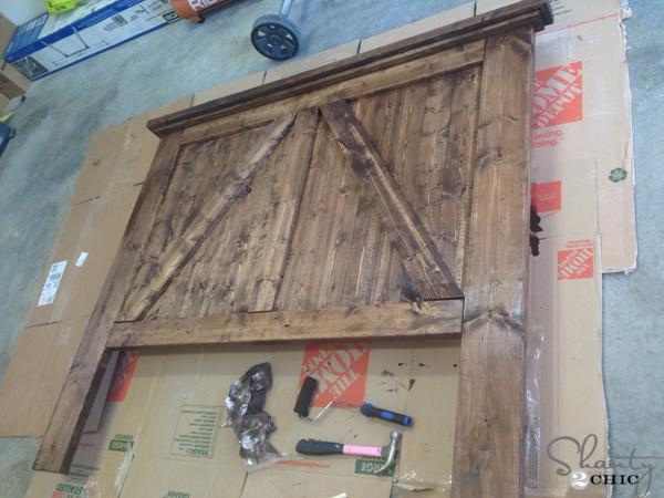 Wood Headboards Diy diy barn door headboard - shanty 2 chic