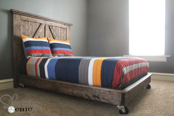 Simple full platform bed