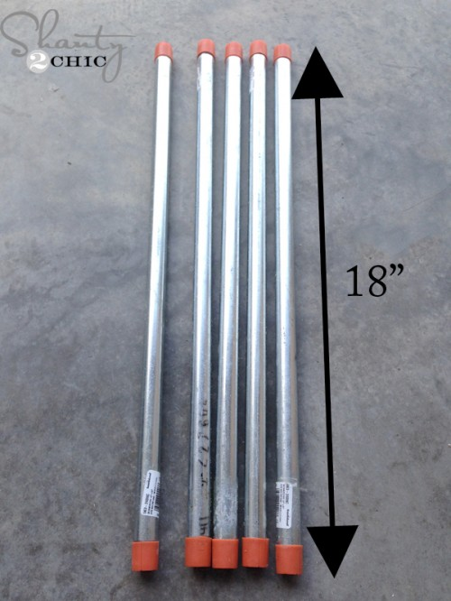 metal pipes for blanket ladder