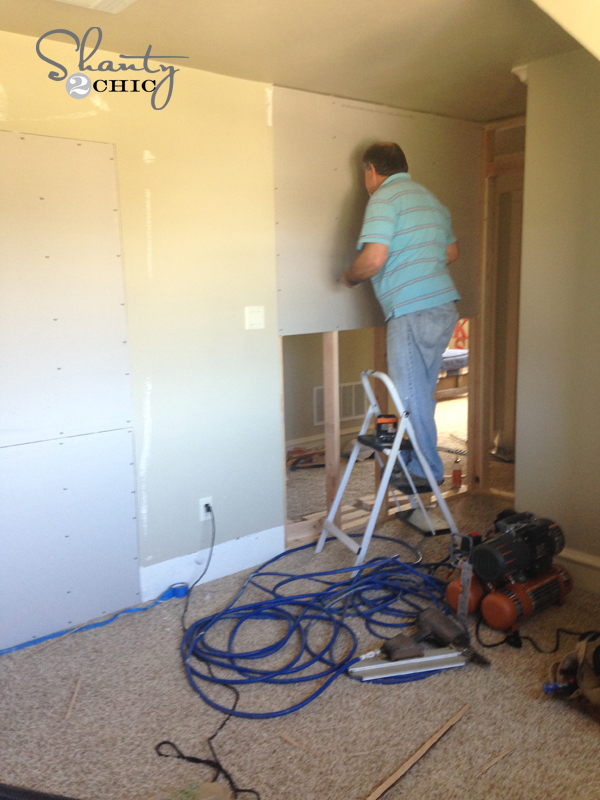 how to put up sheetrock